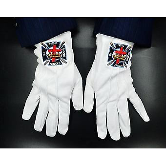 Knights templar masonic gloves
