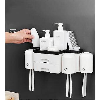 Drawer Toothbrush Holder Double Layer High Capacity Storage|Toothbrush Holders