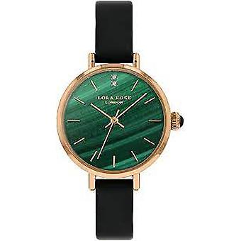 Lola Rose Lr2178 Green Dial Leather Strap Watch For Women
