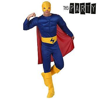 Kostym för vuxna Th3 Party Muskulös hjälte