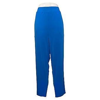 إيمان العالمية شيك المرأة السراويل ريج الكاحل مع جيوب الأزرق 694940