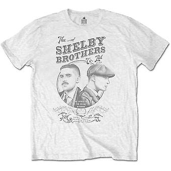 Peaky Blinders - Shelby Brothers Circle Faces Men's Large T-Shirt - White