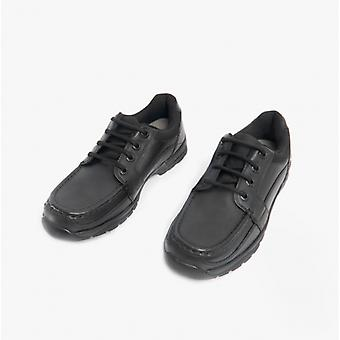 Start-Rite Dylan Boys Leather Lace-up School Shoes Black