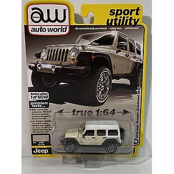 2018 Jeep Wrangler JK Unlimited Sport Gobi Beige 1:64 Auto World 64282B