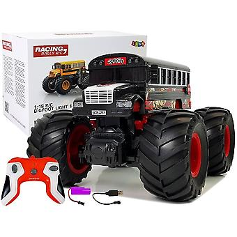 Schoolbus monster truck Black – RC controllable 2.4G – With sound