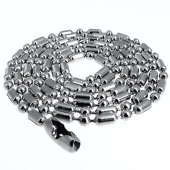 Women Necklace Bamboo Round Beads Stainless Steel Chain For Party