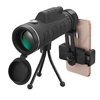 40x60 Monokular HD Optik BAK4 Low Light Nachtsicht Teleskop mit TelefonHalter Clip Stativ im Freien