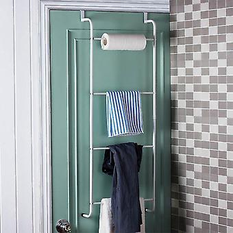 Trapezoidal de 4 camadas pendurada sobre prateleiras de armazenamento de toalhas de porta