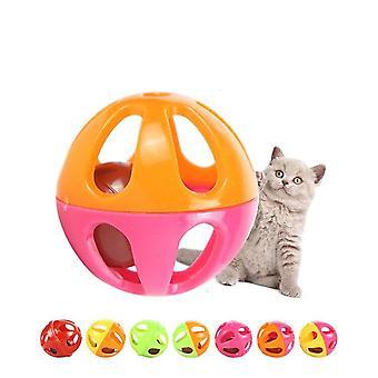 Katt leketøy plast to farge bell leketøy ball
