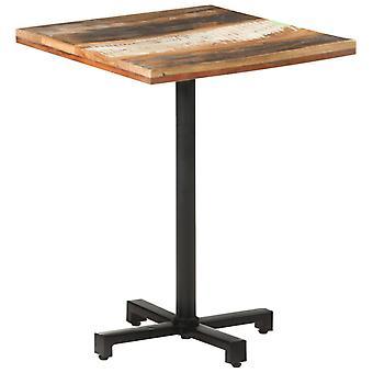 """שולחן ביסטרו vidaXL ריבוע 60x60x75 ס""""מ עץ ממוחזר מוצק"""