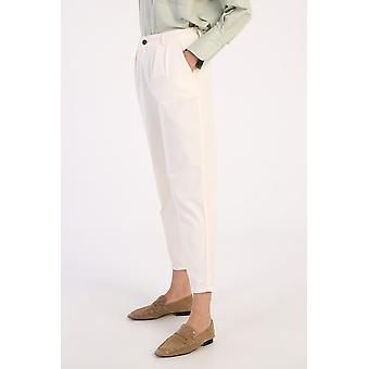 Elastic Waist Pleated Slouchy Pants