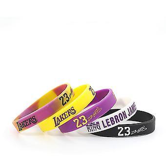 5pcs/lot Lakers James 23 Silikone gummi armbånd justerbar
