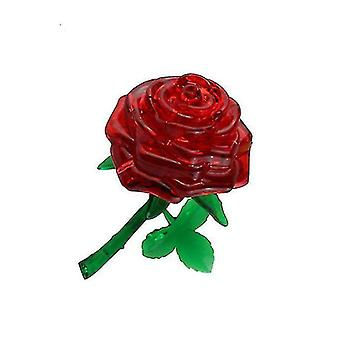 Jigsaw puzzles 3d self-installed rose crystal building block diy puzzle educational jigsaw toy red gift #4730