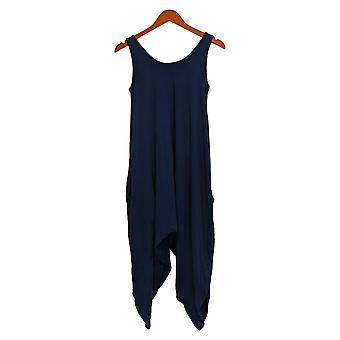 أي شخص المرأة jumpsuits ريج دافئ متماسكة الأزرق A306964