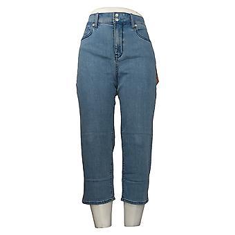NYDJ Femmes-apos;s Jeans Cool Embrace Skinny Crop Side fentes Bleu A377691