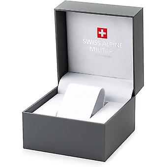 Sveitsisk alpinmilitær 7078.9177 kronograf menns klokke 45 mm