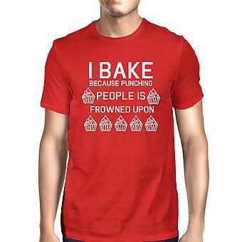 Stansning personer är ogillat Man röda T-shirts rolig T-shirt