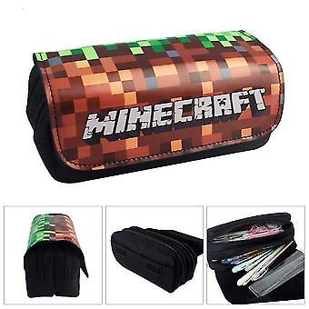 Minecraft Kinder-Doppelschicht-Federmäppchen mit großer Kapazität (Farbe-4)