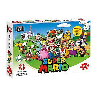 Nintendo Super Mario + Friends 500 Piece Jigsaw Puzzle