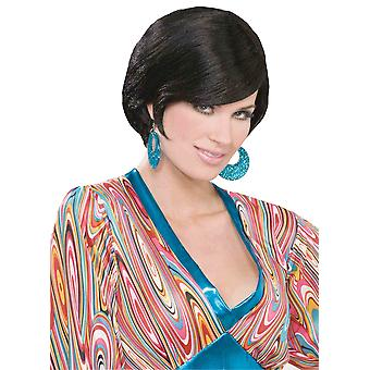 Brit Mod Retro Go Go 1960s Disco Black Women Costume Wig