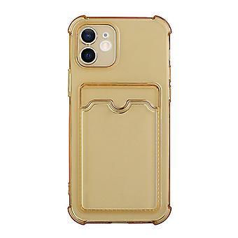 Iphone13 برو ماكس حالة الهاتف / شفافة بطاقة القضية قضية الهاتف (الذهب)