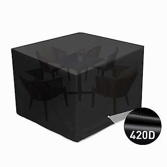Puutarhakalusteiden kansi, Vedenpitävä Suojakansi 420d Pöytä / huonekalut, Vedenpitävä, Anti-uv, Pöly, Ikääntyminen, Kyynel musta