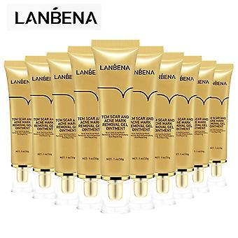Lanbena -10pcs Anti-scar Cream, Skin Repair Gel, Acne Spot Treatment, Skin Whitening, Stretch Marks