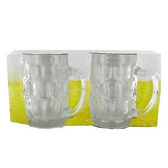 2 stykke øl glass krus 54ml for Lager Cider drikke alkohol Barware