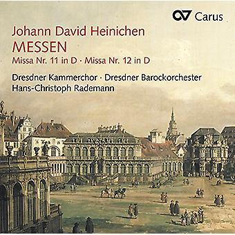 Heinichen / Dresden Chamber Choir / Rademann - Masses Nos. 11 & 12 [CD] USA import