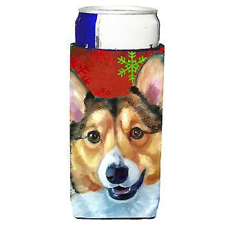 Corgi rot Schneeflocken Urlaub Weihnachten Ultra Getränke Isolatoren für schlanke Dosen