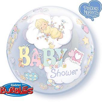 Qualatex 22 tums enda Baby dusch Design Bubble ballong