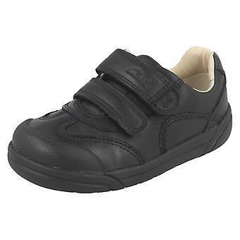 בנים Clarks רצועה כפולה נעלי בית הספר החיות של ליל