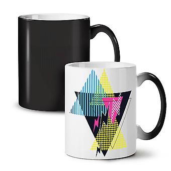 Lightning Pattern NEW Black Colour Changing Tea Coffee Ceramic Mug 11 oz | Wellcoda