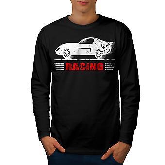 Speed Racing Men BlackLong Sleeve T-shirt   Wellcoda