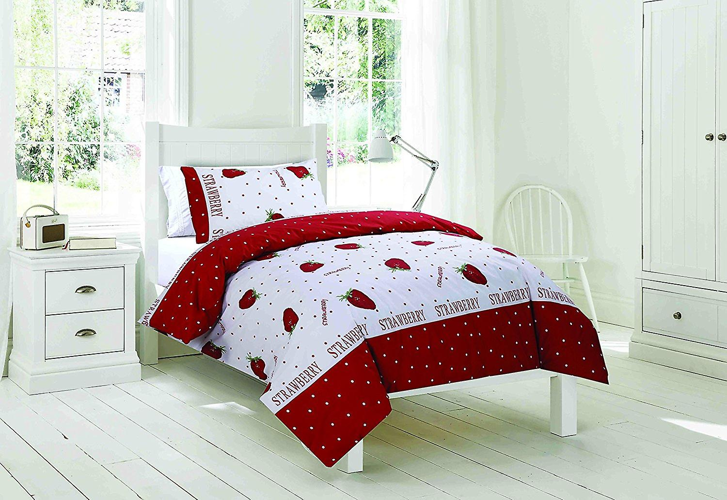 Easy-Fit Duvet Strawberry