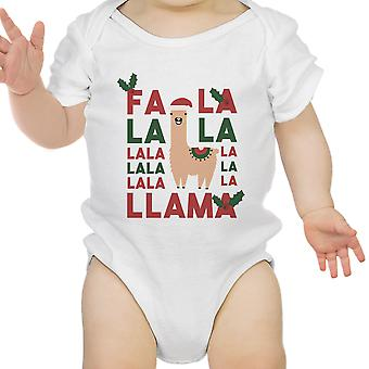 Falala Lama leuke vakantie Baby Romper Gift witte katoenen Romper