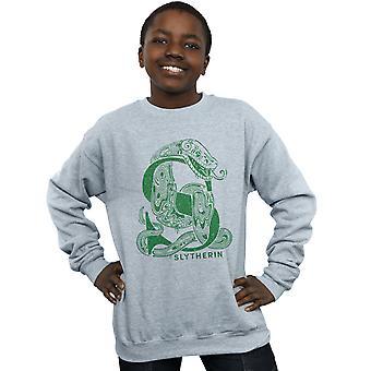 Harry Potter Boys Slytherin Glitter Sweatshirt