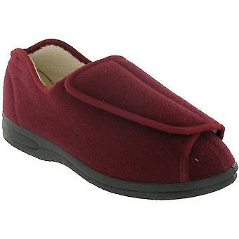 Mirak damer Fife Touch infästning textil Bootie toffel röd