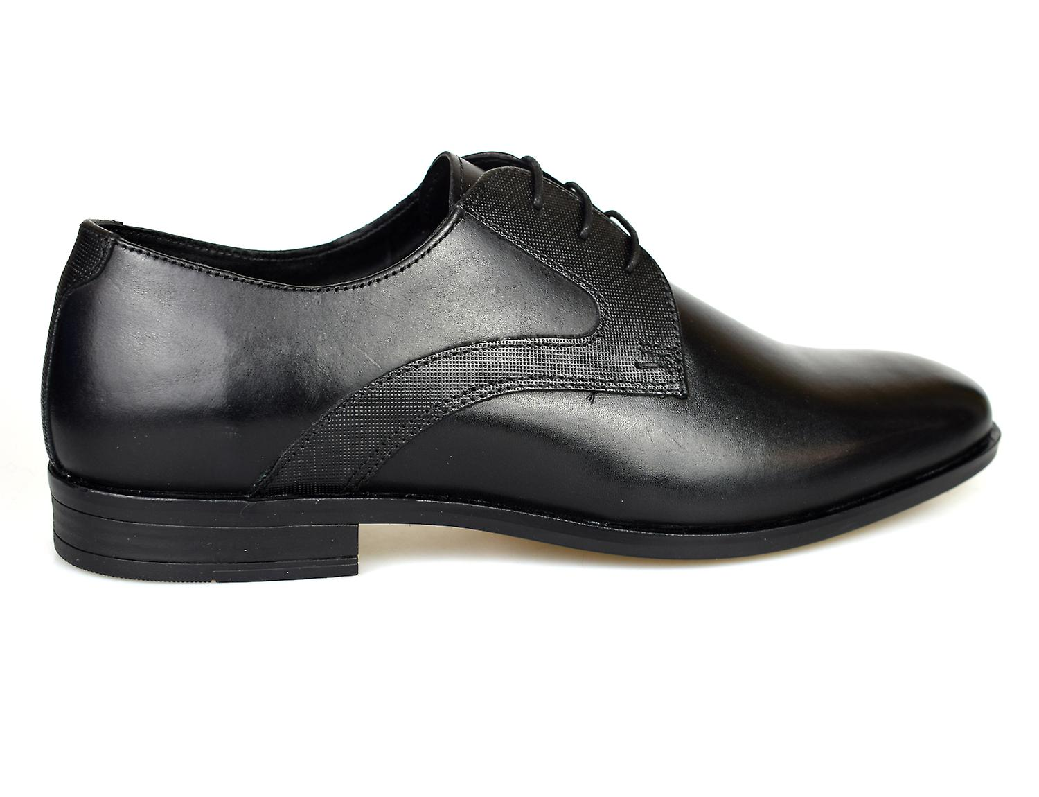 Red Tape Linton Black Leather Formal Mens Shoes