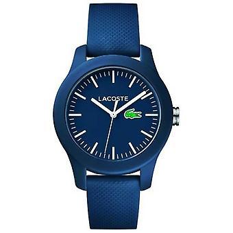Lacoste Unisex marinblå gummi Strap marinblå urtavla 2000955 Watch
