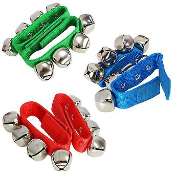 A-Star Small Wrist Bells Pair - Available in Blue, Red or Green