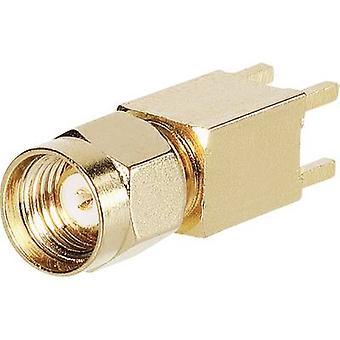 BKL elektronische 0419024 SMA omgekeerde polariteit Connector plug, verticale Mount 50 Ω 1 PC (s)