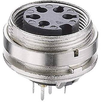 Lumberg KGR 120 DIN connector Socket, verticale verticale aantal pins: 12 zilver 1 PC('s)