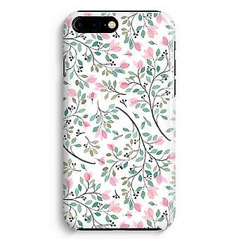 iPhone 8 Plus pełna obudowa głowiczki (błyszcząca) - delicje kwiaty