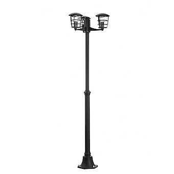 Eglo Aloria Black Contemporary Outdoor Driveway 3 Head Post Light