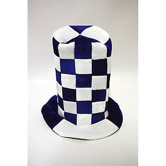 Union Jack Wear Blue And White Checkered Topper Hat