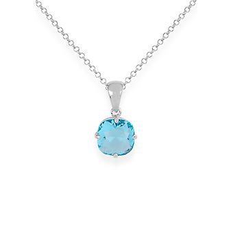 Blue pendant with crystals from Swarovski 9195