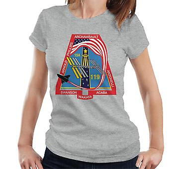 NASA STS 119 Raumfähre Discovery Mission Patch Damen T-Shirt