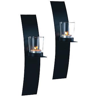 Lampett Wand Laterne Bogen Schmieden 2-P Laterne Kerze Halter Wand Kerzenleuchter