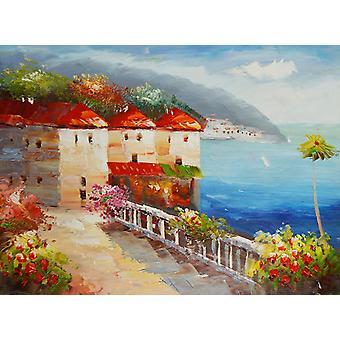 Mediterranean, oil painting on canvas, 30x40 cm